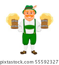 Oktoberfest, beer festival. Cheerful man 55592327