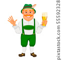 Oktoberfest, beer festival. Cheerful man 55592328