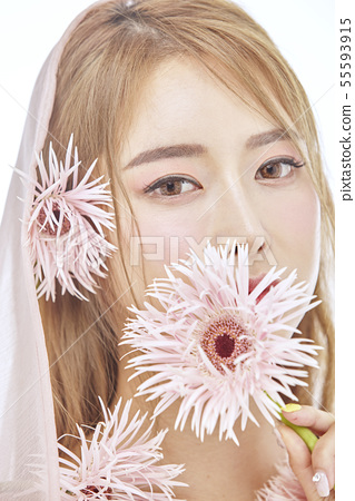 꽃,뷰티,젊은여자 55593915