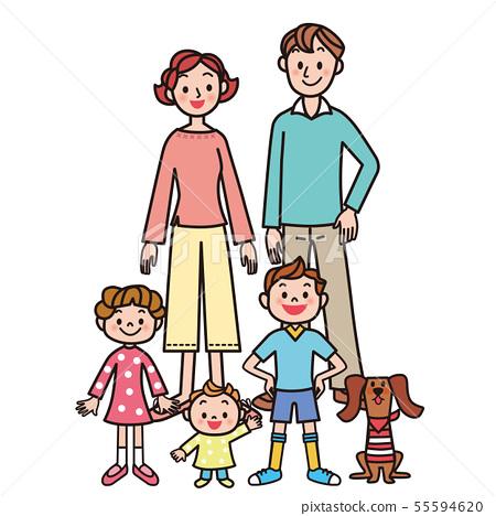 가족 부모와 자식 행복 가족 55594620