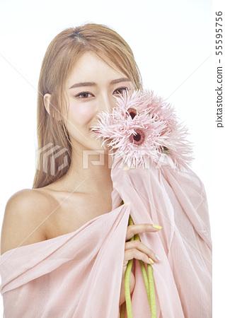 꽃,뷰티,젊은여자 55595756
