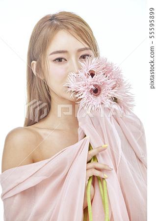 꽃,뷰티,젊은여자 55595899
