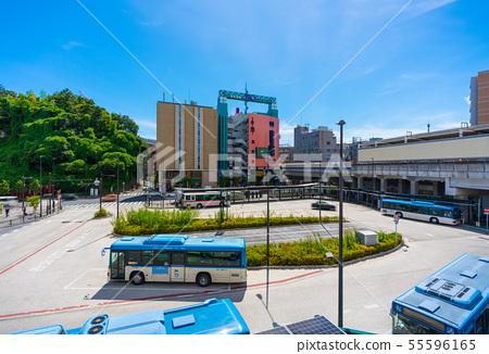 일본의 가와사키 도시 경관 미조 노구치 역 (武蔵溝노口 역) 이전 미조 노 버스 터미널 등을 원하는 55596165
