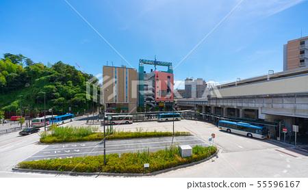 일본의 가와사키 도시 경관 미조 노구치 역 (武蔵溝노口 역) 이전 미조 노 버스 터미널 등을 원하는 55596167