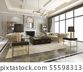 luxury and modern living room with bookshelf 55598313