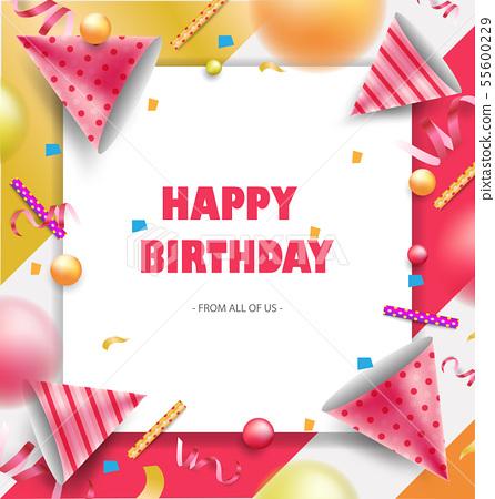 Happy Birthday Celebration Background Design Stock Illustration 55600229 Pixta