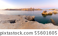 Valletta Panoramic view of the city and the bay at dawn. 55601605