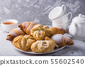 Baking puff pastry with a sweet filling for tea or 55602540