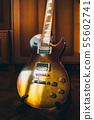 Brown sunburst electric guitar 55602741