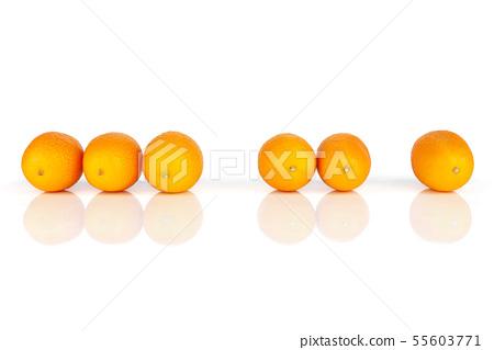 Fresh orange kumquat isolated on white 55603771