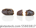 Dried date medjool isolated on white 55603817