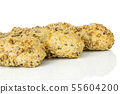 Fresh cereal baguette isolated on white 55604200
