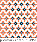 Geometric shapes seamless vector pattern. Abstract petal shapes background. 55604951