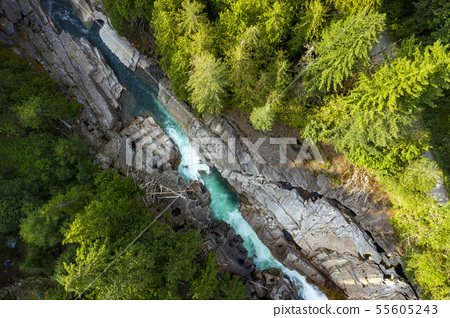 Canyon Falls is an off the beaten path waterfall in Barring Washington 55605243