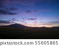 Tsukuba mountain just before sunrise 55605865