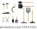 Garden work tools collection. 55614161