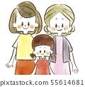 세 부모 - 여성 - 수채화 55614681
