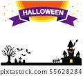 Halloween frame frame moon full moon Hoshi castle grave 55628284