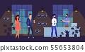 Happy People Characters at Night Club Bar Cartoon 55653804