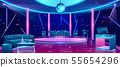 Nightclub dance floor cartoon vector interior 55654296