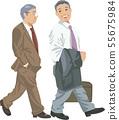 Businessman going to the sales destination 55675984