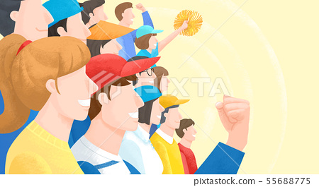 Group of people background illustration 004 55688775