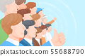Group of people background illustration 001 55688790