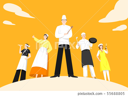 Set of variety occupation profession people concept illustration 010 55688805