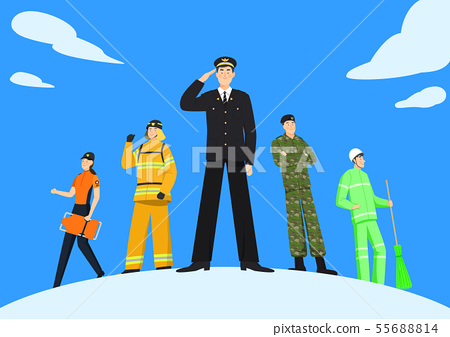 Set of variety occupation profession people concept illustration 003 55688814
