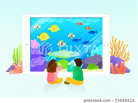 Modern technology concept, convenient world illustration 005 55688828