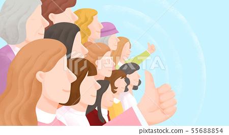 Group of people background illustration 002 55688854