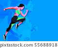 Woman fitness workout in colorful background illustration 001 55688918