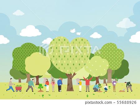 Ecology concept save the world illustration 001 55688926