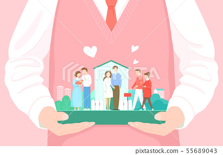 Safe and protecting people concept illustration 005 55689043