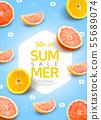 Tropical background for sale poster, banner design 009 55689074