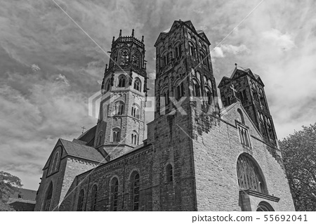 St. Ludgeri catholic church in Muenster, Germany 55692041