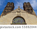 Front of St. Ludgeri church in Muenster, Germany 55692044
