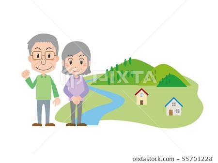 农村生活老年夫妇移民 55701228