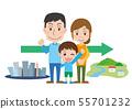 가족 이민 전원 생활 귀성 여행 관광 가족 55701232