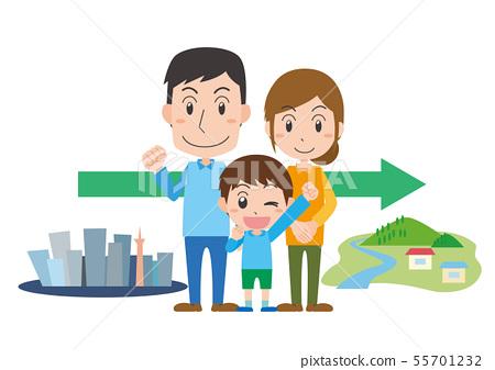 家庭移民鄉村生活回家旅遊觀光家庭 55701232