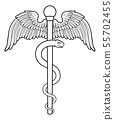 Rod of Asclepius Aesculapius Medical Symbol 55702455