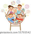 夏季节日鼓和家庭 55703542