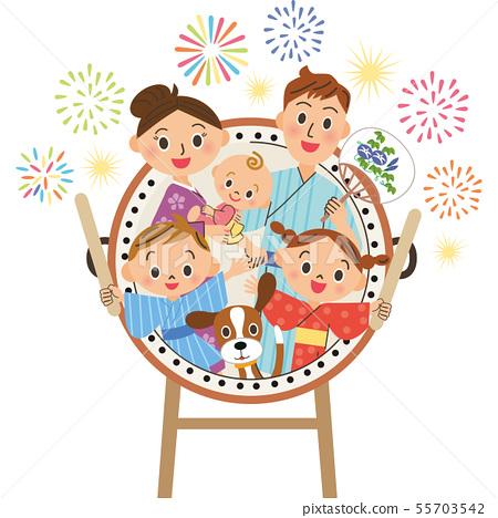 夏季節日鼓和家庭 55703542