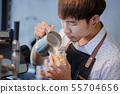business, asian, barista 55704656