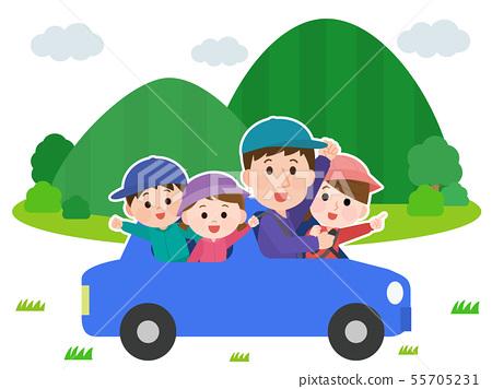 家庭山斜向一邊駕駛例證 55705231