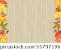 낙엽 장식 프레임 55707196