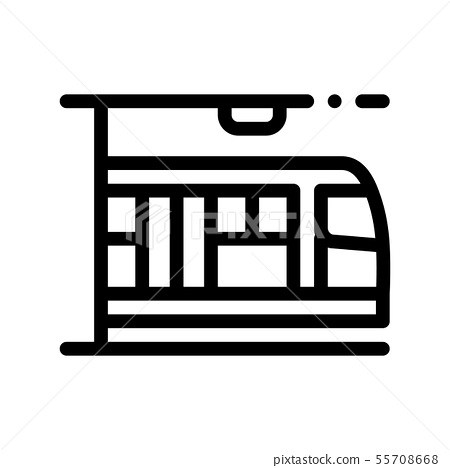 Public Transport Metro Vector Thin Line Sign Icon 55708668