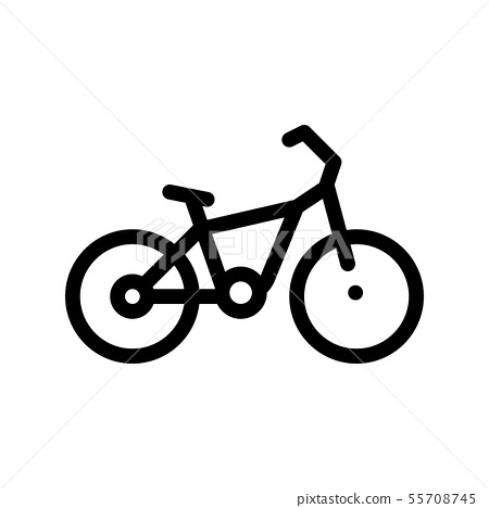 Public Transport Bicycle Vector Thin Line Icon 55708745