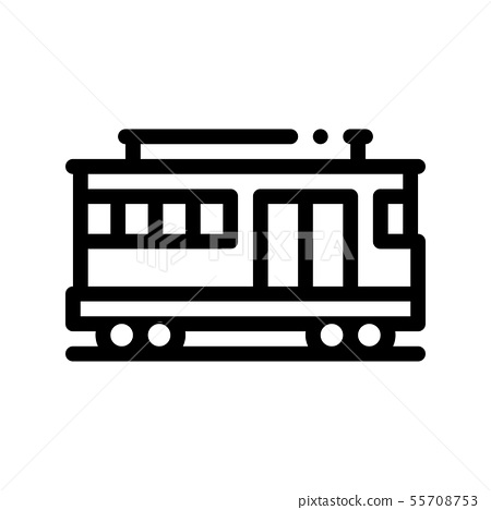Public Transport Cable Car Vector Thin Line Icon 55708753