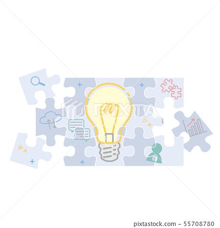 퍼즐 일러스트 팀워크 55708780